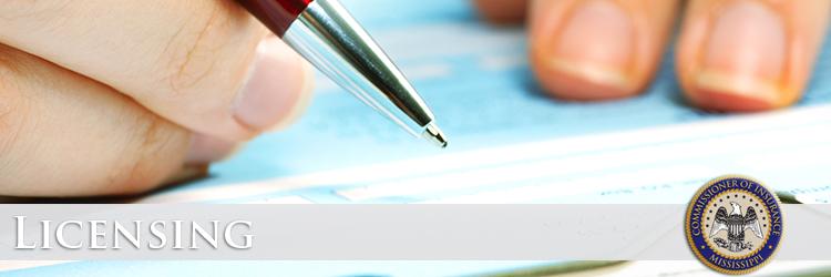 Mississippi Insurance Department - Adjuster Licensing
